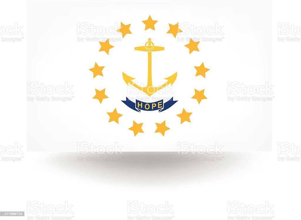 Rhode Island State Flag Stock Vector Art 471099724 Istock