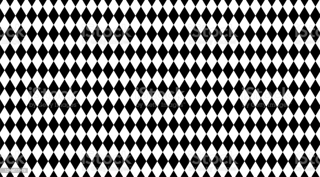 Rhombus Black White Pattern For Background Geometric Diamond Pattern For Backdrop Rhombus Black On White For Wall Decoration Wallpaper Fabric Cloth Fashion Rhombus Textile Geometric Rhombus Luxury Stock Illustration Download Image