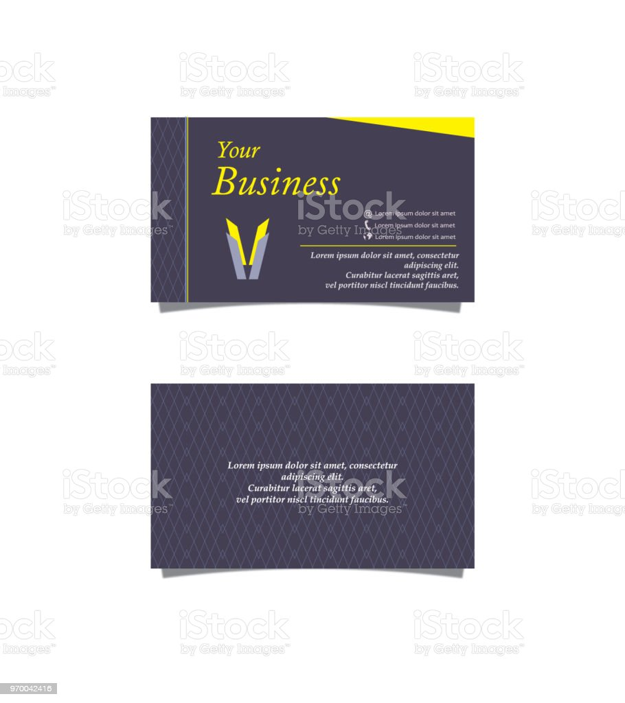 Rhombus business card stock vector art more images of abstract business card diamond shaped geometric shape sample text telephone colourmoves