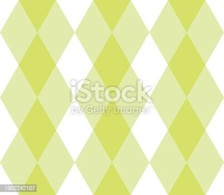 istock Rhombus geometric seamless pattern. 1302242107