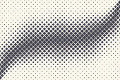 Rhombus Shapes Vector Abstract Geometric Technology Oscillation Wave Isolated on Light Background. Halftone Rectangles Retro Simple Pattern. Minimal 80s Style Dynamic Tech Wallpaper