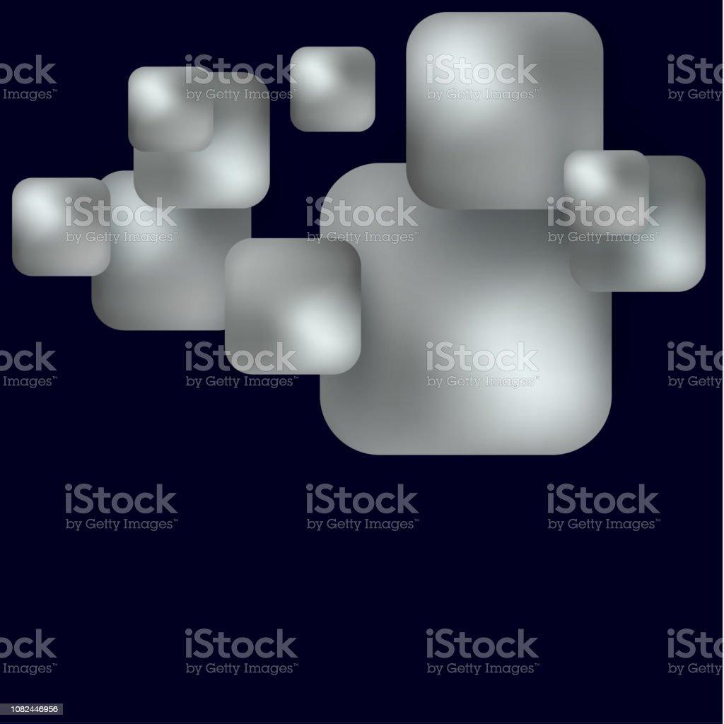 Rhombuses Style Decorative Dark Digital Element Modern