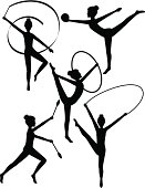 Rhythmic Gymnasts Silhouettes