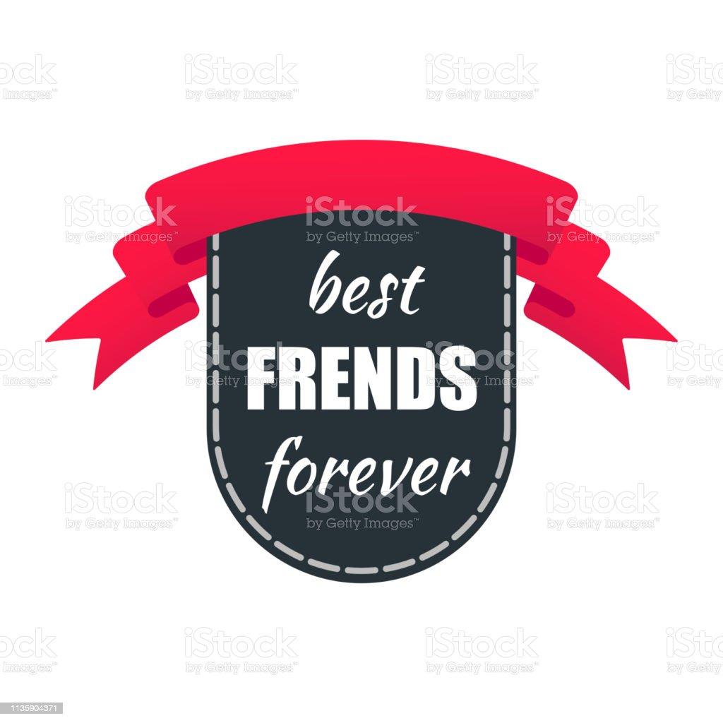 De Toekenning Van Het Lint Met Tekst Beste Vrienden Voor