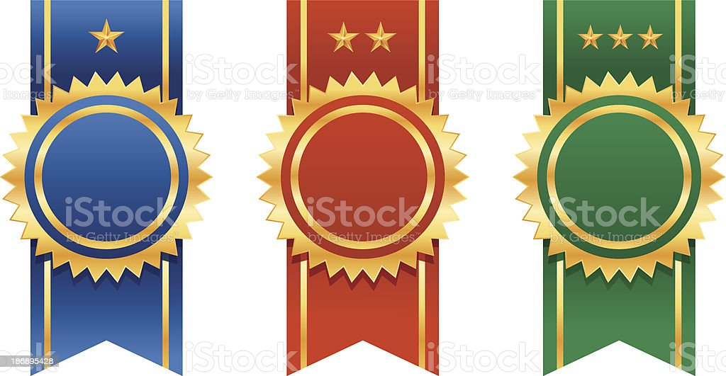 Ribbon Badges royalty-free stock vector art