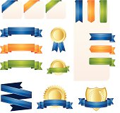 Vector ribbon, banner and label Set. High resolution jpeg.