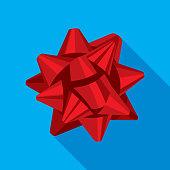 istock Ribbon Bow Icon Flat 1182138648
