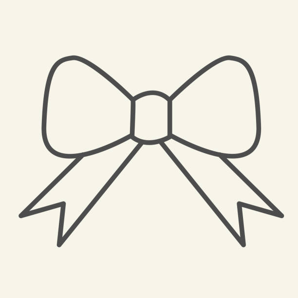 Ribbon bow thin line icon. Holiday gift bow outline style pictogram on white background. New Year or Christmas decoration for mobile concept and web design. Vector graphics. Ribbon bow thin line icon. Holiday gift bow outline style pictogram on white background. New Year or Christmas decoration for mobile concept and web design. Vector graphics anniversary clipart stock illustrations