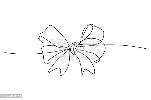 istock Ribbon bow 1204041679