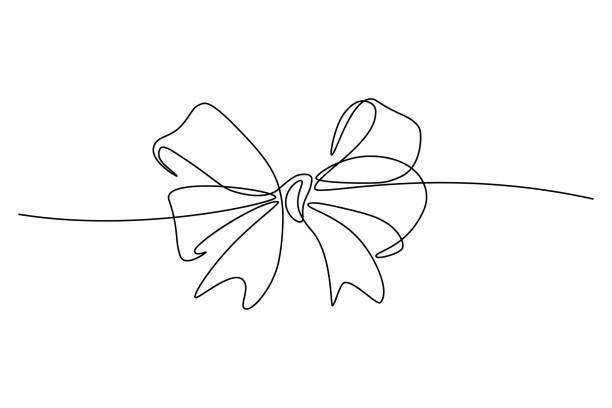 ilustrações, clipart, desenhos animados e ícones de arco de fita - presente