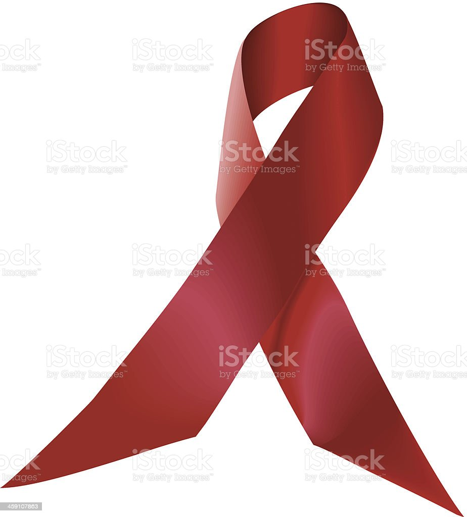 AIDS Ribbon C vector art illustration