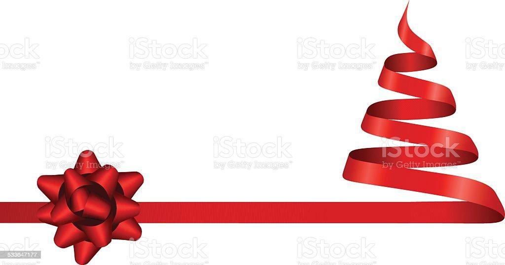 Band Christmas Tree – Vektorgrafik