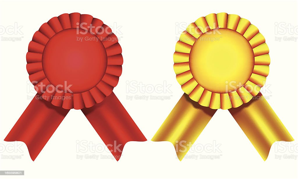 Ribbon decorations - VECTOR royalty-free ribbon decorations vector stock vector art & more images of achievement