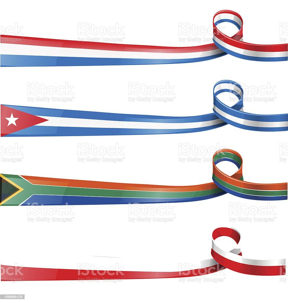 Bandera de cinta - ilustración de arte vectorial