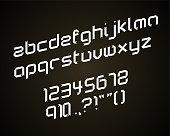 Ribbon folding alphabets
