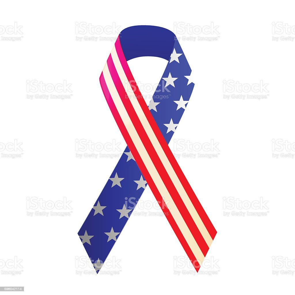 Ribbon for 4th of July or Memorial Day vector art illustration