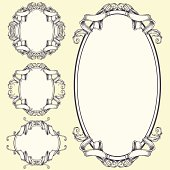 Ribbon frame and border ornaments