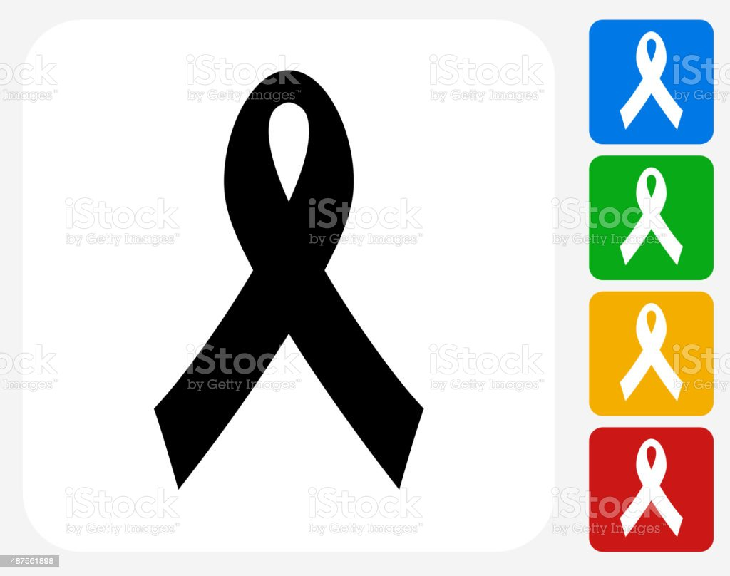 Ribbon Icon Flat Graphic Design vector art illustration