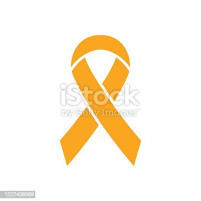 istock Ribbon icon. World Press Day symbol. Vector illustration 1222408569