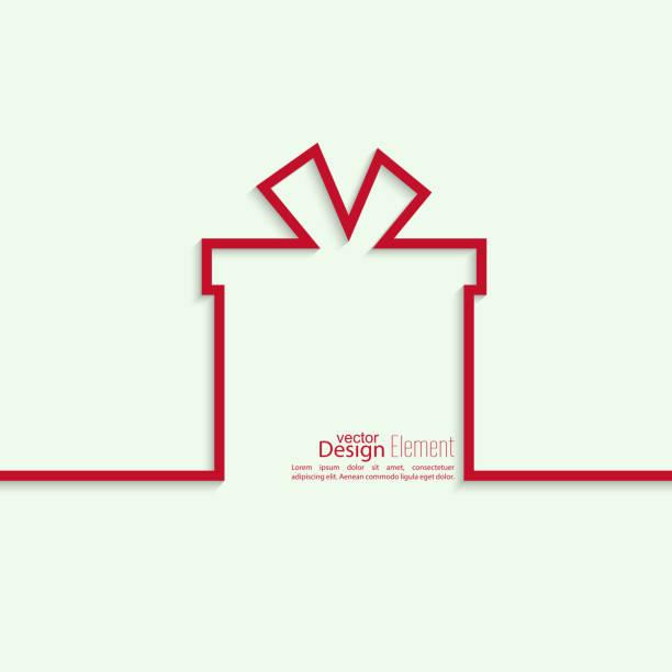 ilustrações de stock, clip art, desenhos animados e ícones de fita na forma de presente com sombra - gift box