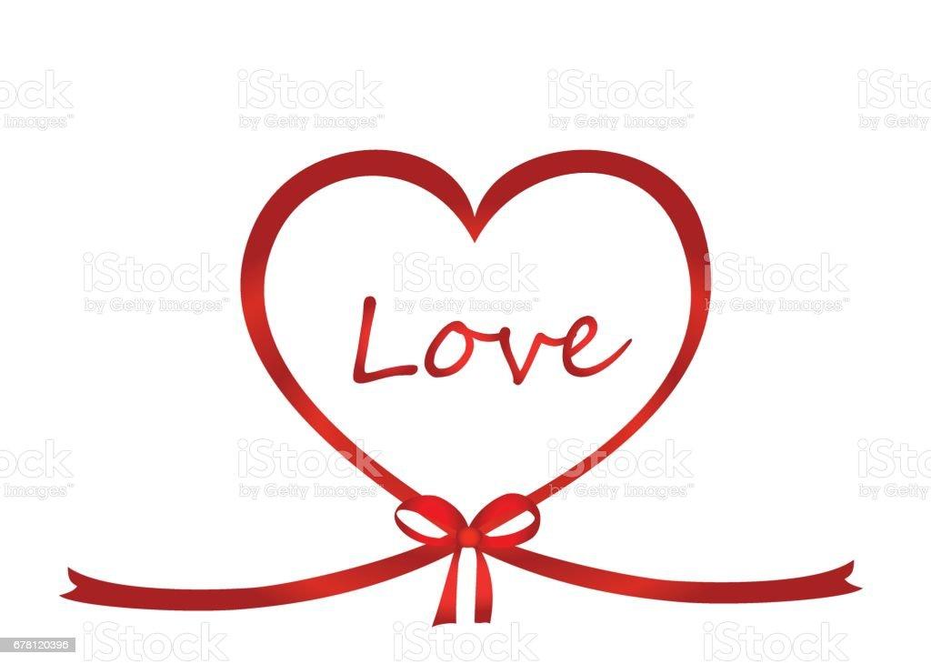 un ruban en forme de coeur arc rouge carte de voeux ou dinvitation pour des vacances jour de la. Black Bedroom Furniture Sets. Home Design Ideas