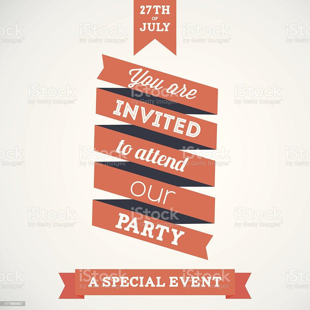 Ribbon invitation royalty-free ribbon invitation stock vector art & more images of anniversary
