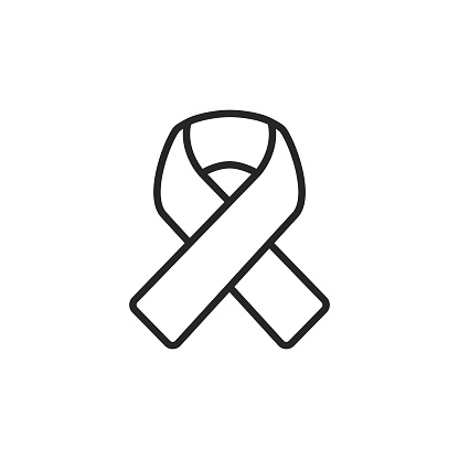 Ribbon Line Icon. Pixel Perfect. For Mobile and Web. Editable Stroke.