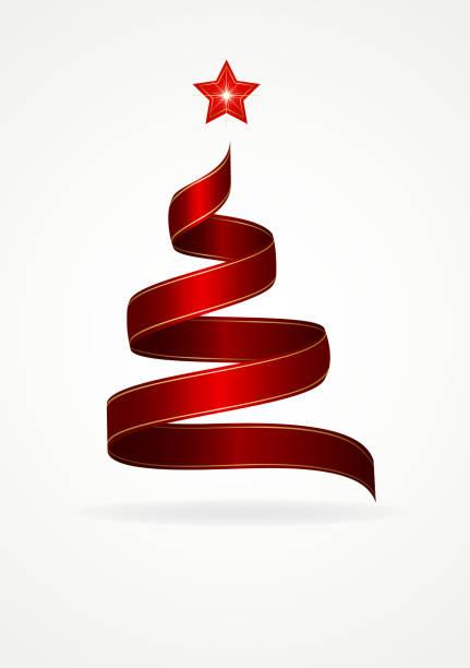 Christmas Tree Ribbon Illustrations, Royalty-Free Vector ...