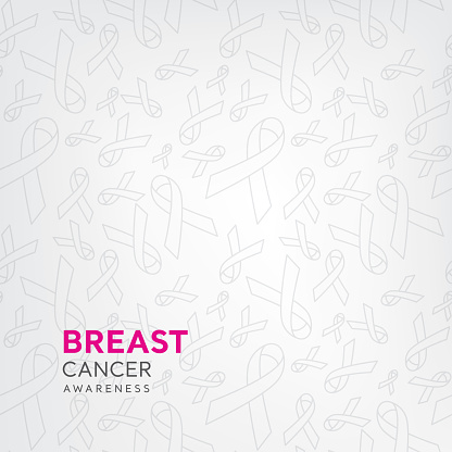 Ribbon pattern on white background for breast cancer awareness campaign