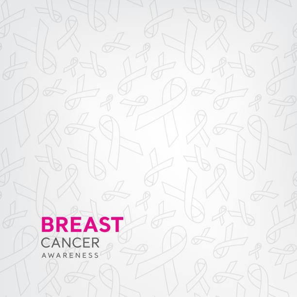 ilustrações, clipart, desenhos animados e ícones de padrão de faixa de opções em fundo branco para a campanha de conscientização de câncer de mama - pink october