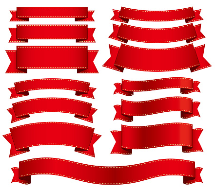 Ribbon material with various widths and shapes