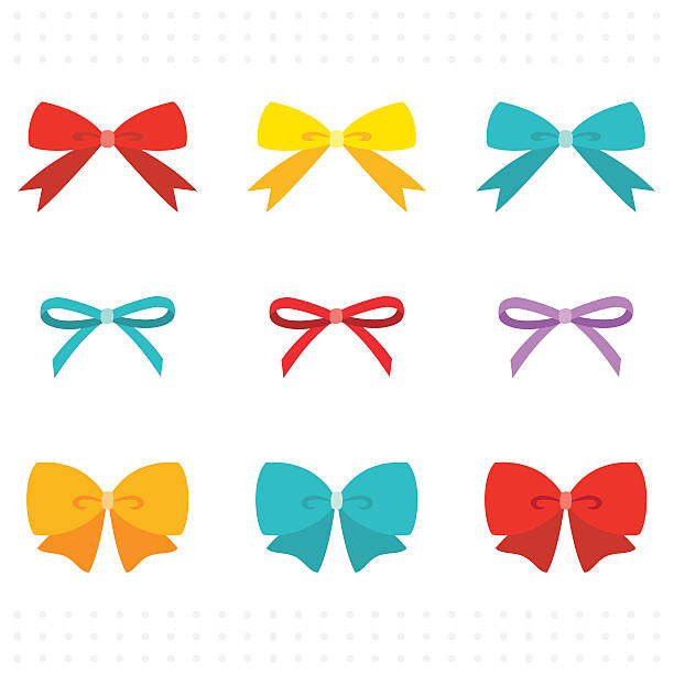 ribbon set - tie stock illustrations, clip art, cartoons, & icons