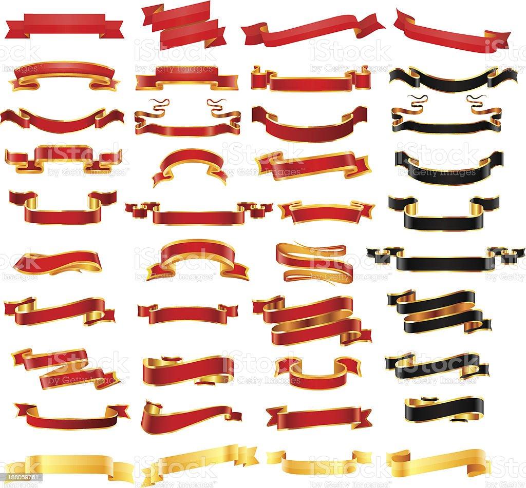 Ribbon set. Vector vector art illustration