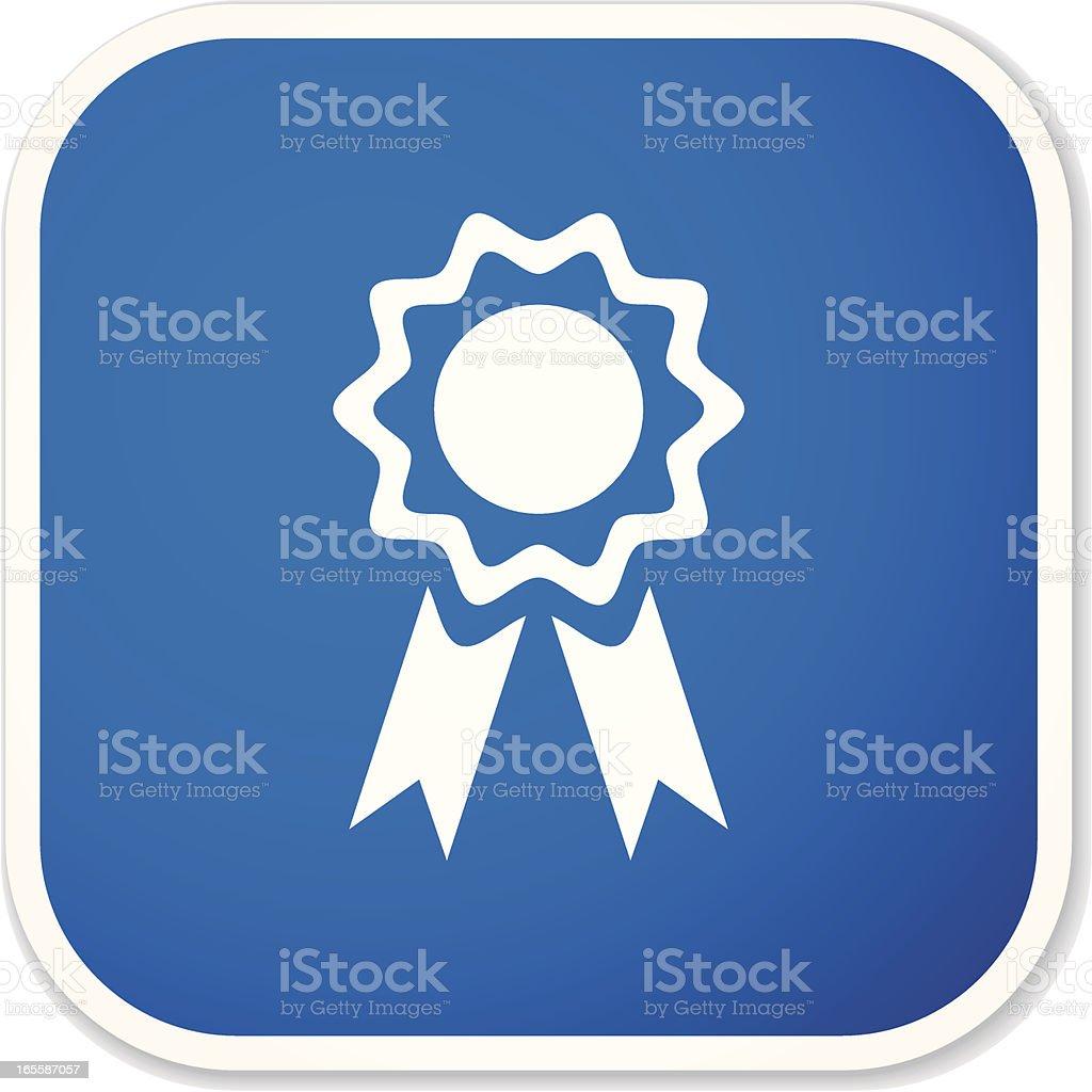 ribbon sq sticker royalty-free stock vector art