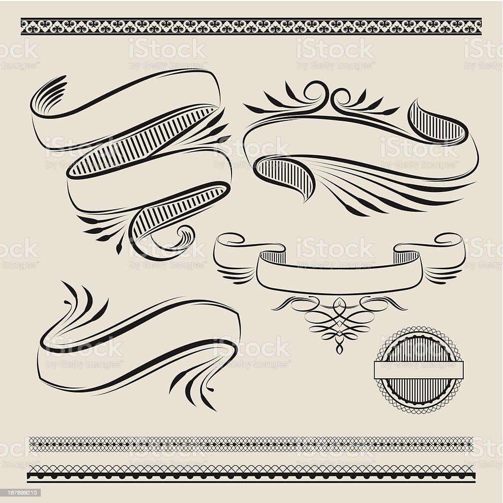 Ribbon Swirl vector art illustration