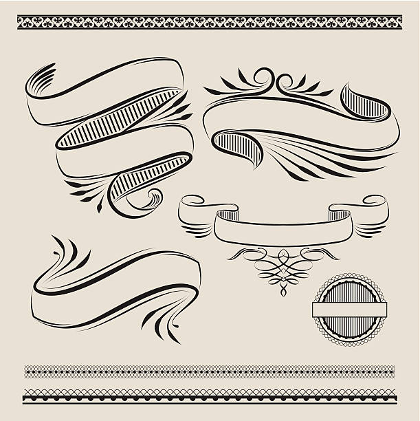Ribbon Swirl vector art illustration