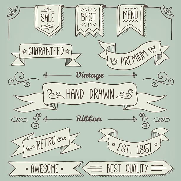 ribbon - book borders stock illustrations
