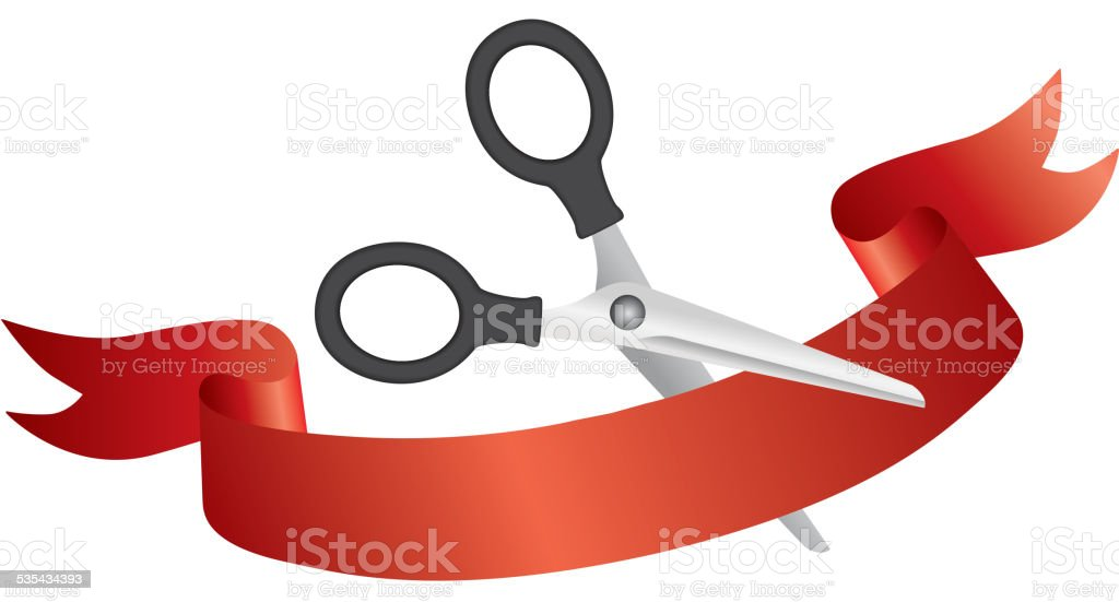 royalty free grand opening sign clip art vector images rh istockphoto com  ribbon cutting ceremony clipart