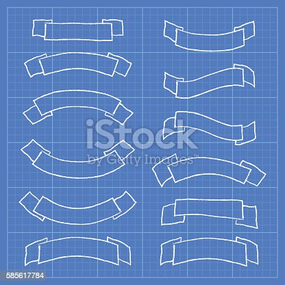 Ribbons and banners on blueprint document stock vector art more ribbons and banners on blueprint document stock vector art more images of award ribbon 585617784 istock malvernweather Choice Image