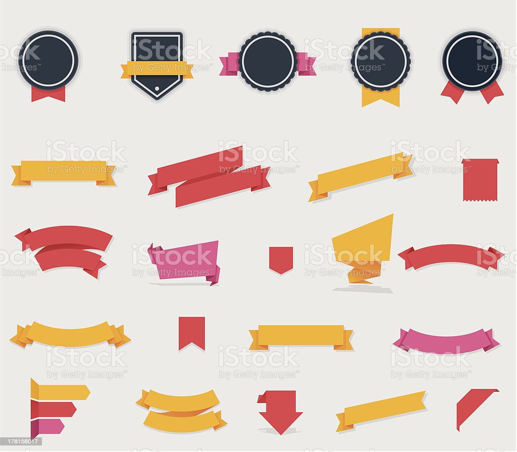 Ribbons and labels royalty-free ribbons and labels stock vector art & more images of angle