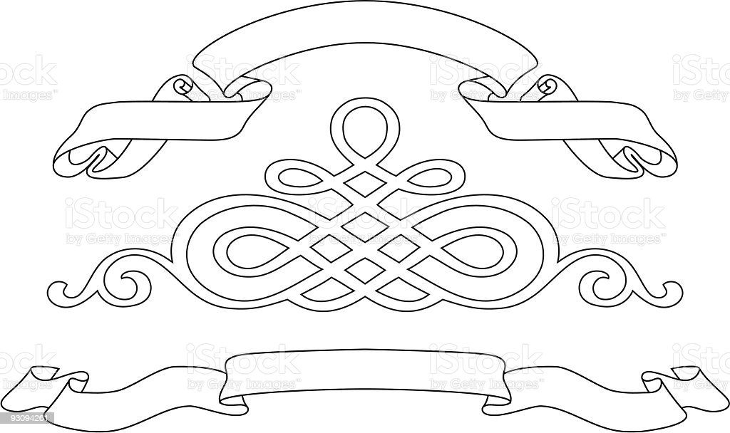 Ribbons and pattern royalty-free ribbons and pattern stock vector art & more images of art product