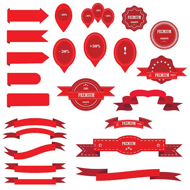 Ribbons big vector set. vector art illustration