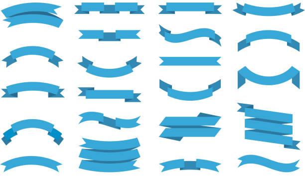 ribbons-sammlung. premium-bannerband mit platz für textvektor flache bilder von dekorativen bändern für design-projekte - transparent stock-grafiken, -clipart, -cartoons und -symbole