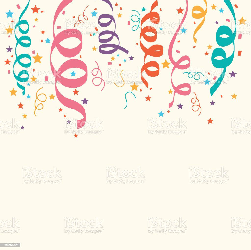 Ribbons decoration for party celebration. vector art illustration