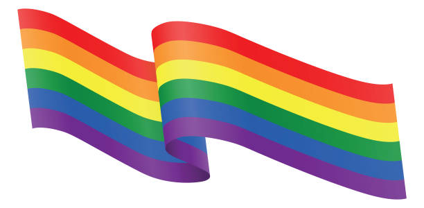 stockillustraties, clipart, cartoons en iconen met linten lgbt - lgbt flag