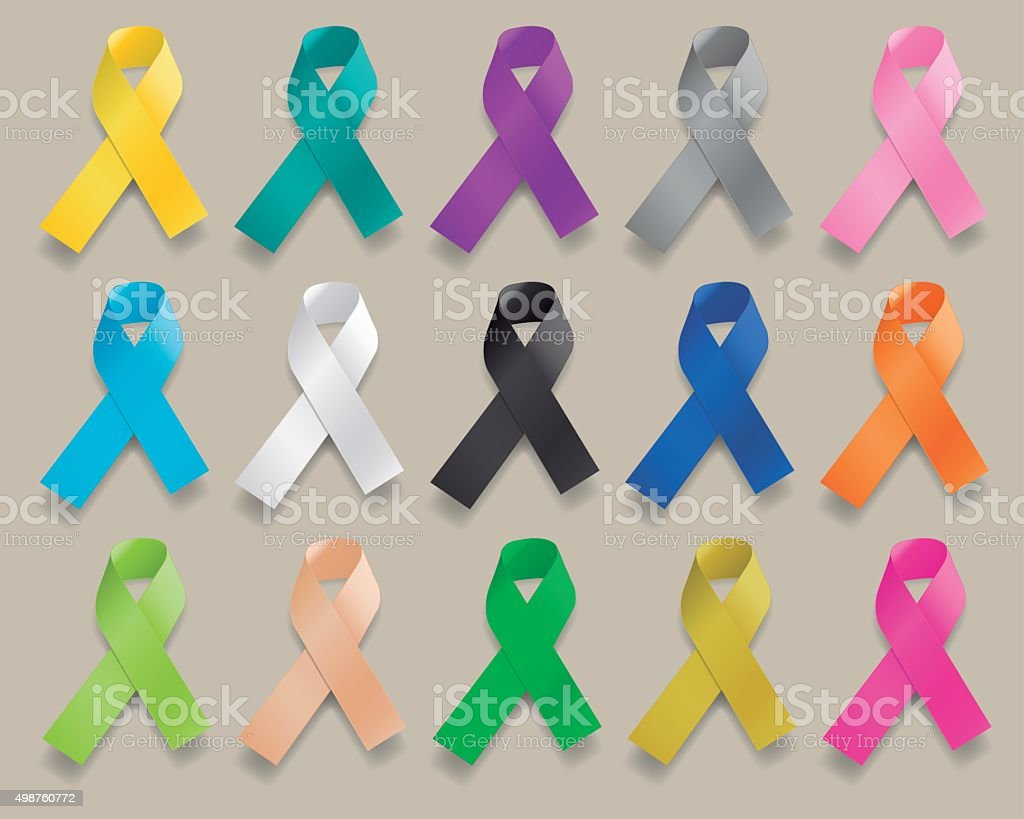 Ribbons of Various Colors vector art illustration