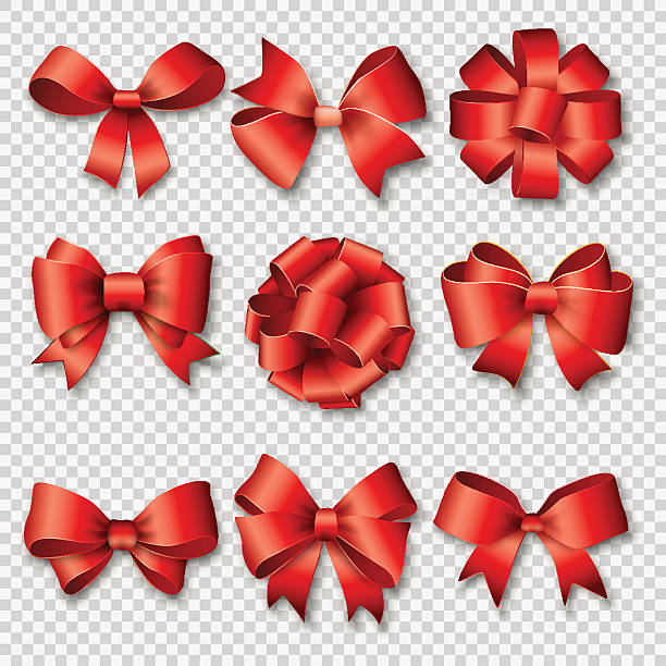 Ribbons set for Christmas or Birthday gifts vector art illustration