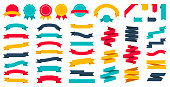 Ribbons Set - Vector Flat Collection