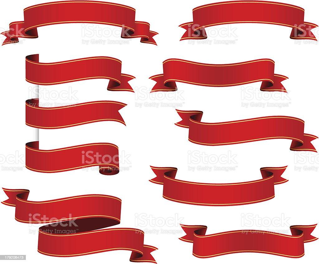 Ribbons set vector art illustration