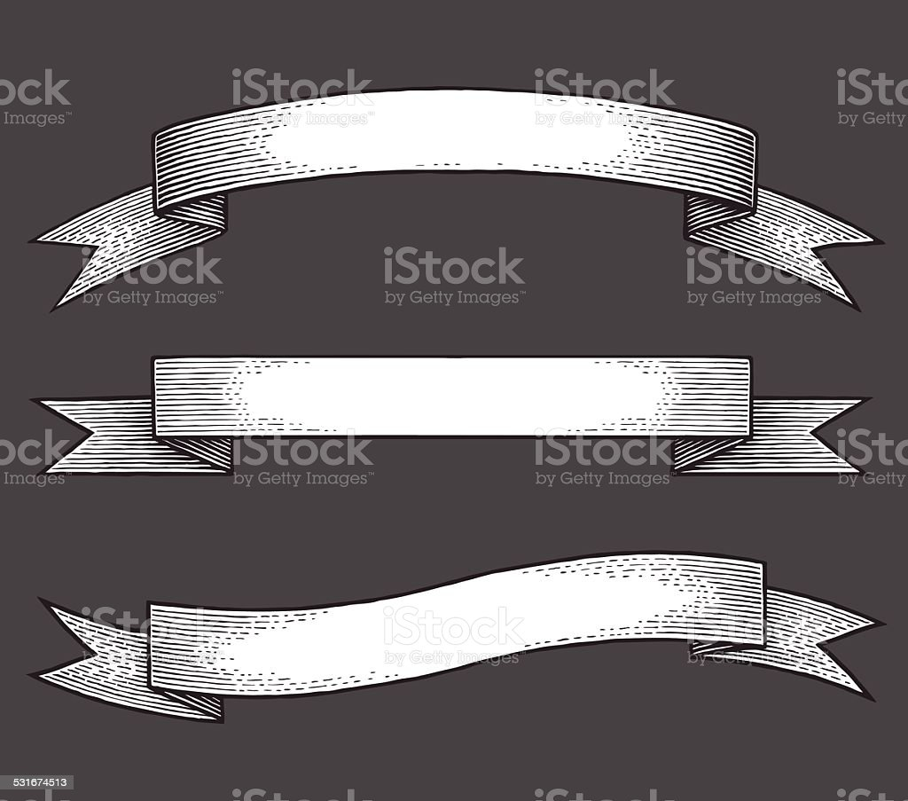 ribbons vector art illustration